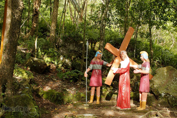 Camiguin's stations of the cross: Jesus carries his cross