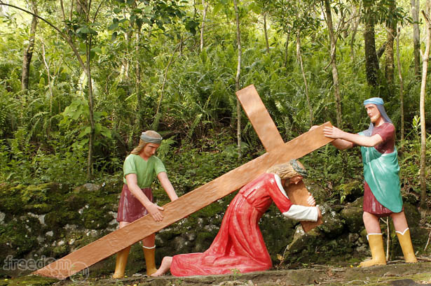 Camiguin stations of the cross: Jesus falls the first time