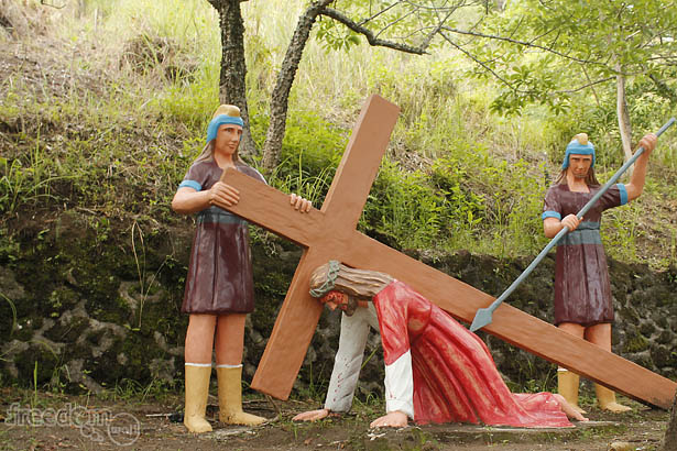 Camiguin's stations of the cross: Jesus falls the second time