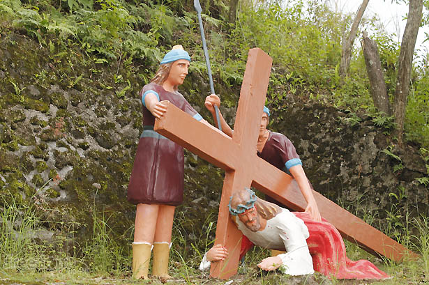 Camiguin stations of the cross: Jesus falls the third time