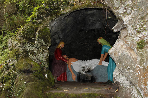 Camiguin stations of the cross: Jesus is laid in the tomb