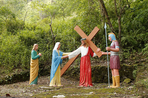 Camiguin's stations of the cross: Jesus meets his mother