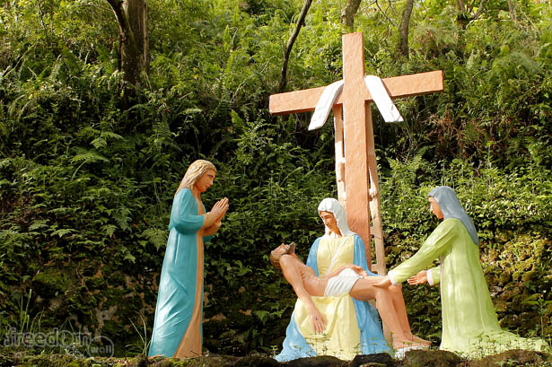 Camiguin stations of the cross: Lamentation