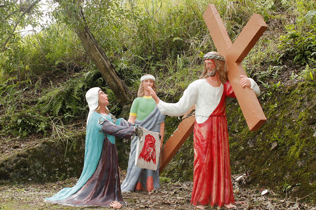 Camiguin's stations of the cross: Veronica wipes the face of Jesus
