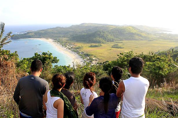 Overlooking Mahabang Buhangin Beach, Tinaga Islang, Calaguas Group of Island