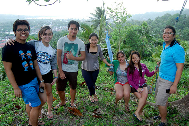 "Paracale Trekkers (From Left: Rodolfo Taton Jr., Julie Princess Simonette ""Cess"" Rosales, Ian Limpangog, Wilade Quiando, Corrine Grace ""Cookie"" Santelices, Karen Salting, and Christopher)"