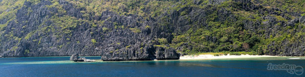 Tapiutan island panorama featuring the Star Beach