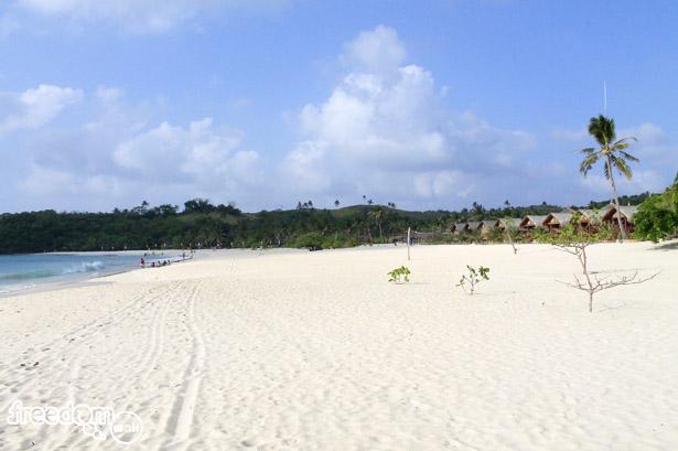 Mahabang Buhangin Beach in Calaguas