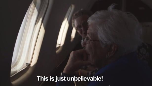 grandma an and ria's first flight