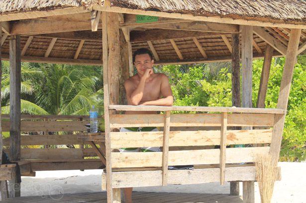 Ian Limpangog at Daku or Dako Island, Siargao