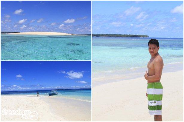 Ian Limpangog at Naked Island, Siargao