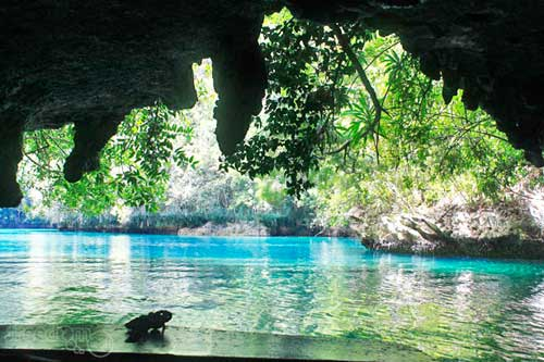 Sohoton Cave, the only way in and out to Sohoton Lagoon in Bucas Grande