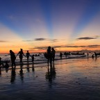 An after sunset in Boracay
