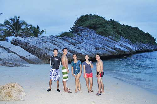 Groupie at Antonia Beach