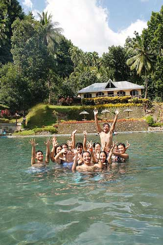 At Sto Niño Cold Spring, Camiguin