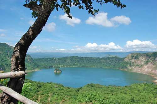 Tall Volcano Main Crater Lake