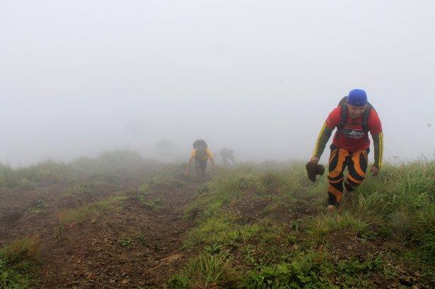 Foggy ascent at Pico de Loro Summit