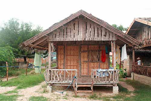 "Our humble ""kubo"" or nipa hut accommodation"