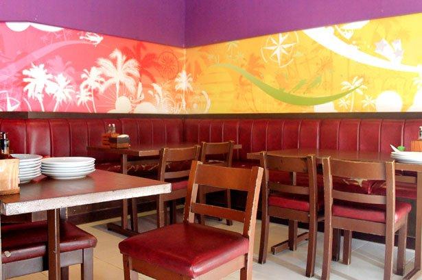 Inside Islands Seafood Restaurant in Surigao City
