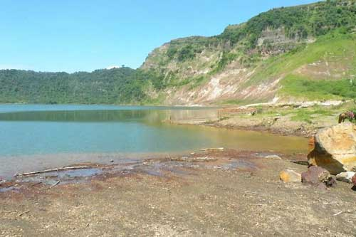 A closer look of Taal Volcano's Main Crater Lake