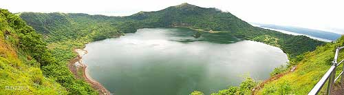 Taal Volcano Main crater panorama