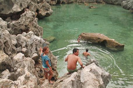 Swimming at Isla de Gigantes' Tangke