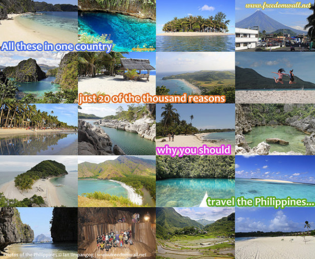 A collage of Philippine tourist destinations