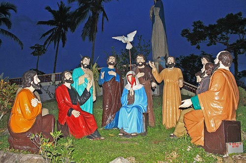 A figure of the Pentecost or Baptism in the Holy Spirit at Kamay Ni Hesus