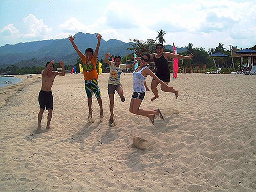jump shot fail with Ralph Vincent Burias, Jasmin Villaflores, Amor Navarra, and Ritchel Cadongonan