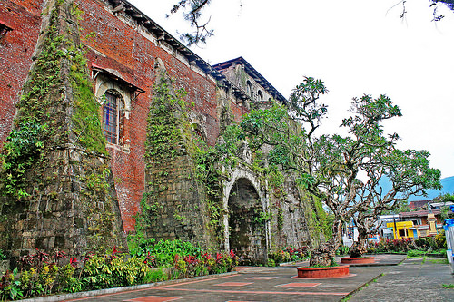 A side view of Majayjay Church or Saint Gregory the Great Parish