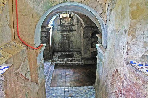 nagcarlan underground cemetery stairway