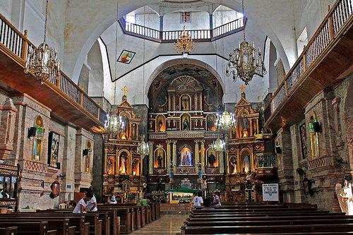 The Altar of Majayjay Church or Saint Gregory the Great Parish