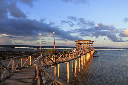 The boardwalk in Siargao's Cloud 9