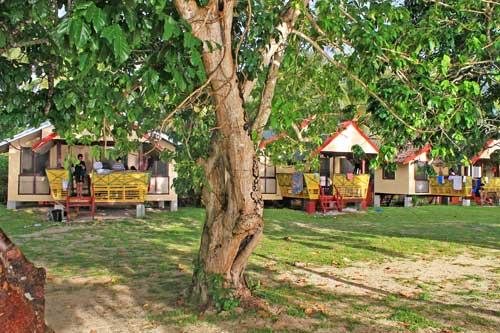 Villa Cleofas' nipa hut accommodation