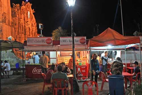 Eateries beside Lucban Church