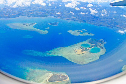 Honda Bay, Palawan: A view from a departing plane from Puerto Princesa City