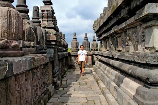 Ian Limpangog Exploring a Trimurti temple of Prambanan