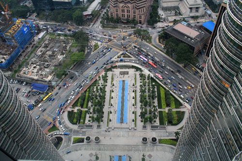 A view from petronas skybridge