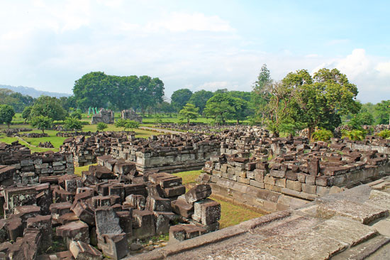 Prambanan temple rubbles