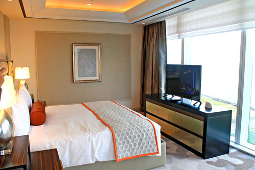 The Sky Tower's Grand Suite facing Manila Bay and its Famed Sunset