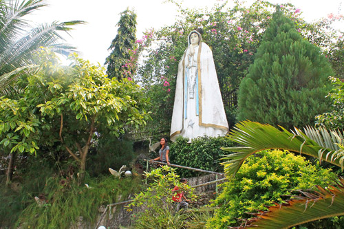 One of the images of the Miraculous Mother Mary at the Monastery of the Holy Eucharist (Birhen sa Simala)