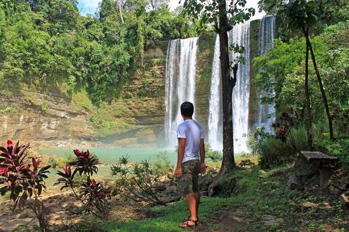 Ian Limpangog is stunned at Niludhan Falls