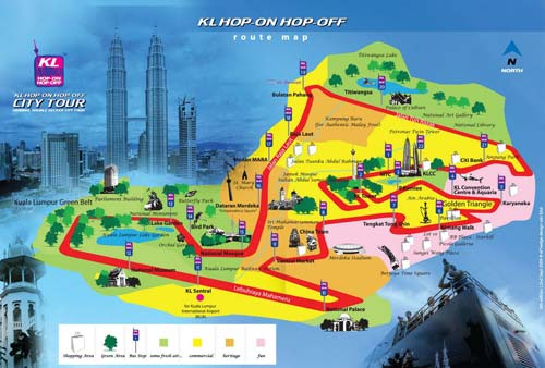 Kuala Lumpur Hop-on Hop-off bus route