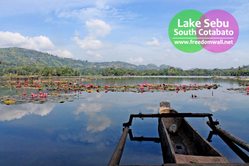 Lake Sebu as viewed from Punta Isla Lake Resort