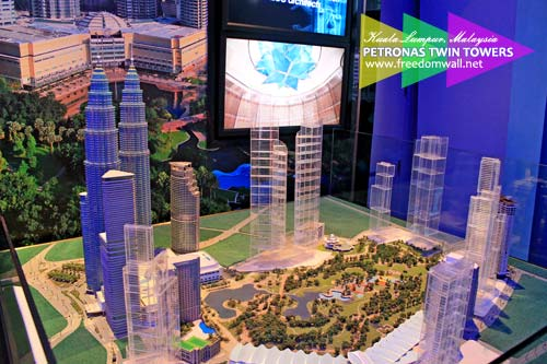The Master Plan of the Kuala Lumpur City Centre (KLCC) as displayed at the Observation Deck of Petronas Twin Towers
