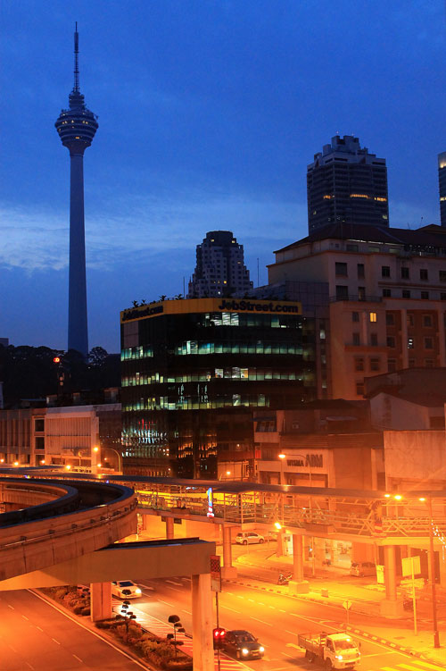 The Menara KL, a view from Tune Hotel Donwtown KL