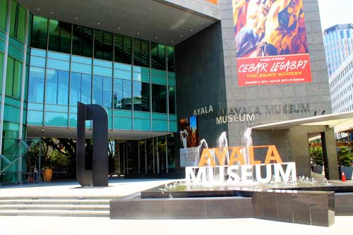 The Ayala Museum facade in Makati Avenue