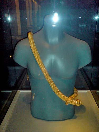The Golden Regalia displayed at Ayala Museum