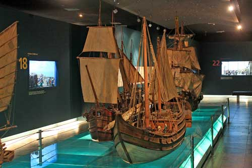 Miniature Galleons from the Maritime Vessels Exhibit of Ayala Museum