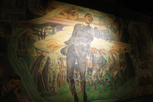 A painting of Rizal's Execution